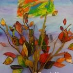 Multi Coloured Tree And Sun