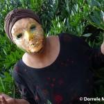 Mask Face In The Bush